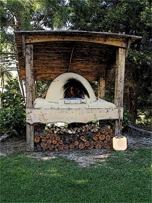 Pizza Oven Shelter