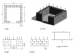 Build a pizza oven foundation out of brick pinkbird for Besser block house designs